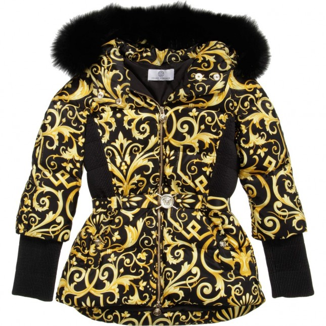 YOUNG VERSACE Girls Baroque Down Padded Jacket