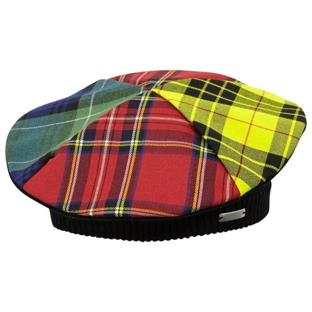 JUNIOR GAULTIER Girls Tartan Beret Hat