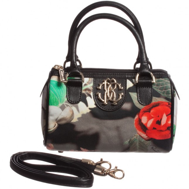 ROBERTO CAVALLI Dark Floral Small Bag (18cm)
