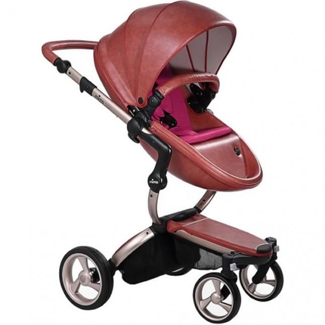 Mima Xari Stroller - Rose Gold/Sicilian Red/Hot Magenta