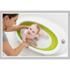Boon NAKED 2-Position Collapsible Baby Bathtub in Pink/White