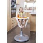 Boon Flair Pedestal Highchair in Coconut/Tangerine