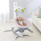 Fisher Price 4-in-1 Smart Connect™ Cradle 'n Swing in Pink Shadow