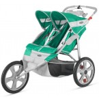 Instep Flash Fixed Wheel Double Jogger - Grass/Grey