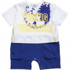 YOUNG VERSACE Baby Boys Cotton Jersey Shortie