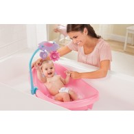 Summer Infant Sparkle Fun Newborn To Toddler Baby Tub With Toy Bar