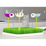 Boon STEM Grass and Lawn Drying Rack Accessory in White & Yellow