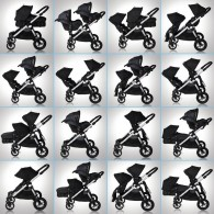 Baby Jogger 2014 City Select Double Stroller in Quartz