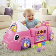 Fisher Price Laugh & Learn Smart Stages Crawl Around Car in Pink