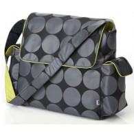 OiOi Grey Dot Interior Messenger Diaper Bag 2COLORS