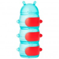 Boon CATERPILLAR STACK Snack Container in Teal/Red