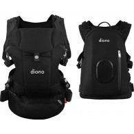 Diono Carus Complete 4-in-1 Baby Carrier + Detachable Backpack - Black