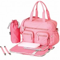 OiOi Faux Lizard Carry All Diaper Bag in Pink Lemonade