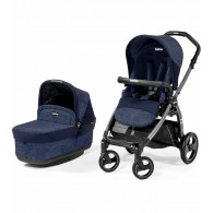Peg Perego Book Pop Up Stroller in Circles Blue
