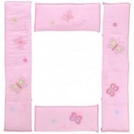 Crown Crafts Olivia 4-Piece Crib Bumper - Pink