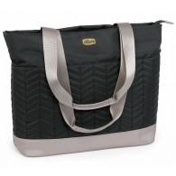 Chicco Chevron Tote Diaper Bag in Black