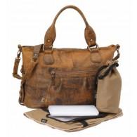 OiOi Jungle Leather Tote Diaper Bag