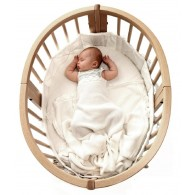 Stokke Sleepi  Fitted Sheet in Coral Straw 120 cm