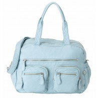 OiOi Faux Lizard Carry All Diaper Bag in Powder Blue