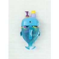 Boon WHALE POD Bath Toy Scoop, Drain, & Storage in Blue
