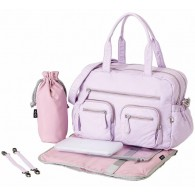 OiOi Faux Lizard Carry All Diaper Bag in Lilac Orchard