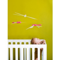 Boon Fli, Ceiling-mounted Mobile in Pink