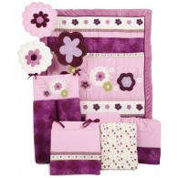 NoJo Pretty in Purple 9 Piece Crib Bedding Set