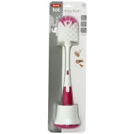 OXO Tot Bottle Brush with Nipple Cleaner & Stand in Pink