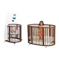 Stokke Sleepi System 1 Bassinet and Crib Set in Walnut