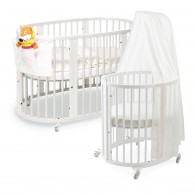 Stokke Sleepi System 1 Bassinet and Crib Set in White