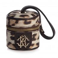 ROBERTO CAVALLI Brown Leopard Dummy Bag (7cm)