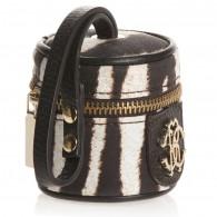 ROBERTO CAVALLI Brown Zebra Print Dummy Bag (7cm)