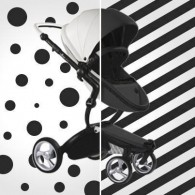 Mima Xari Stroller - Black and White Special Edition