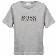 BOSS Boys T-Shirt with Textured Logo