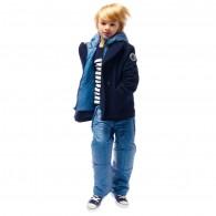 JUNIOR GAULTIER Boys Navy Blue Wool 2-in-1 Jacket