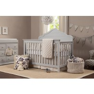 Flora 4-in-1 Convertible Crib with Toddler Bed Conversion Kit