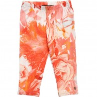 ROBERTO CAVALLI Baby Girls 'Floral Orange' Viscose Leggings