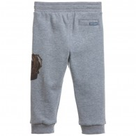 DOLCE & GABBANA Baby Boys Grey 'Crown' Tracksuit Trousers