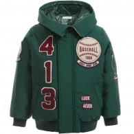 DOLCE & GABBANA Boys Green Padded Baseball Jacket