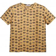 DOLCE & GABBANA Boys Yellow 'Crown' T-Shirt