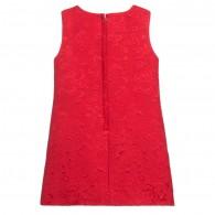 DOLCE & GABBANA Red Silk Brocade Portrait Dress