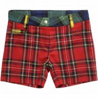 JUNIOR GAULTIER Girls Tartan Shorts