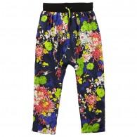 JUNIOR GAULTIER Girls Blue Floral Harem Trousers