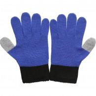 JOHN GALLIANO Blue Knitted Wool Gloves