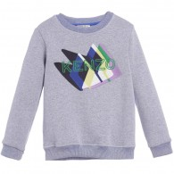 KENZO Boys Blue Mountain Print Sweatshirt