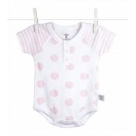 Little Giraffe Lollipop Henley Onesie in Pink - 3 to 6 Months