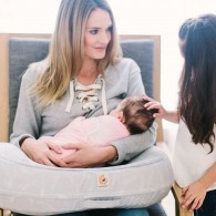 Ergobaby Natural Curve Nursing Pillow - Falling Feathers