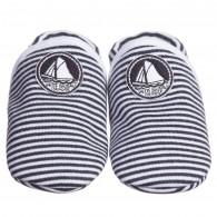 PETIT BATEAU Navy Blue Stripe Pre-Walker Shoes