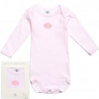 PETIT BATEAU Baby Girls Pink Milleraies Stripes Bodyvest