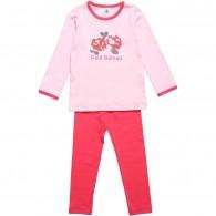 PETIT BATEAU Girls Pink Pyjamas with Shorts & Trousers